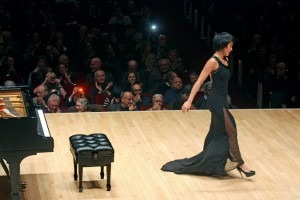 More, more: Yuja Wang last month at Carnegie Hall, where, in her 2013 concert, she played five encores. Credit: Hiroyuki Ito for The New York Times
