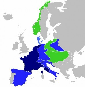 First French Empire at its greatest extent in 1811  French Empire  French satellite states  Allied states