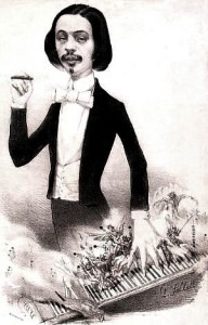 Italian virtuoso Fumigalli, who was famous for playing with his left hand