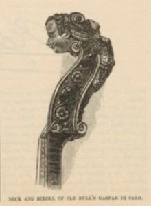 Ole Bull violin scroll