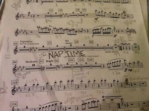 Music hints nap time