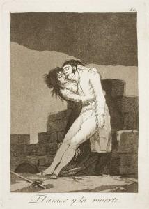 Goya: Capricho № 10: El amor y la muerte (Love and death)