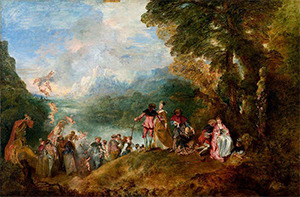 Embarkation to Cythera – Louvre version