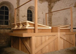 The bellows of the specially built organ.Photo: Public domain