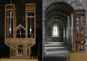The As SLow aS Possible organ, left, and its placement in the church, right.Photos: Public domain& Hoger/Creative Commons
