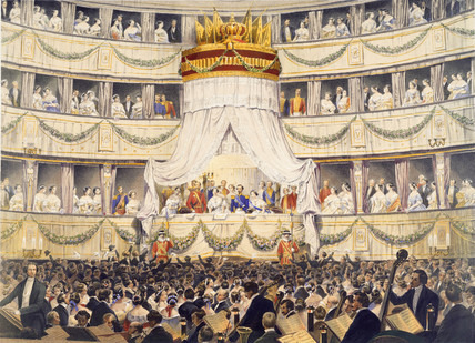 The State Visit to the Royal Italian Opera House, 1855