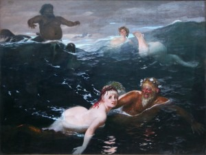 Böcklin: Playing in the Waves (1883)