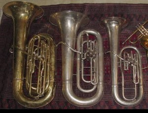 Contrabass, Bass and Tenor Tubas