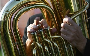 Playing a wind instrument, particularly a brass such as a trumpet or trombone, strengthens the muscles in the upper airways Photo: Alamy