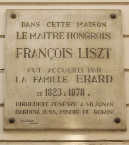 Plaque for Franz Liszt
