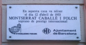 Plaque for Monserrat Caballé