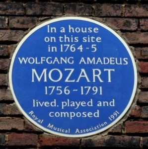 Blue Plaque for Mozart