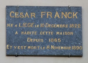 Plaque for César Franck
