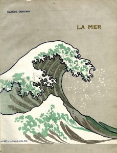 Cover of the first edition of Debussy's La Mer (Durant, 1905)