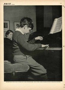 "Photo credit— In January 1938 the photojournalist Fritz Henle visited the Curtis Institute of Music to take pictures for the photographic essay ""Music: Ten Million Americans Become Musically Literate"" in LIFE Magazine. Photo published December 12, 1938 of Gary Graffman at 10 years old with his piano teacher Isabelle Vengerova."