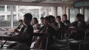 The HKFO on the Star Ferry, Wong Lui Kwan Alexander cor anglais soloist.
