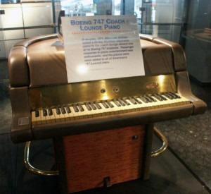 Piano on plane