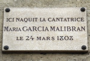 Plaque for Maria Malibran