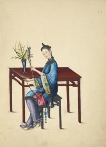Woman Playing the Erhu or Jinghu