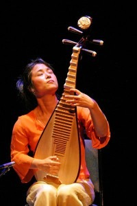 Wu Man playing a Pipa