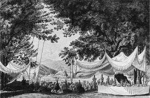 Design for Weber's 'Der Freischütz,' Act 3, 1821 production