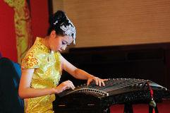 Girl playing a Zheng