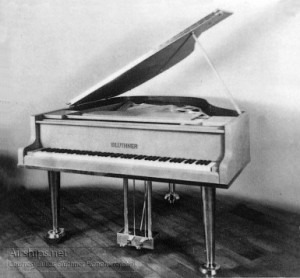 The Hindenburg's Piano.Photo courtesy Julius Blüthner Pianofortefabrik.