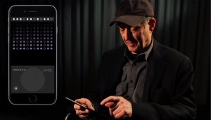 Steve Reich demonstrates his new app.Credit Boosey & Hawkes