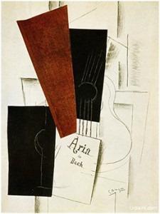 Georges Braque (1882-1963), Aria de Bach -1913