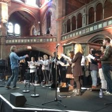 Eric Whitacre rehearses his Singers at Union Chapel(photo Classic FM)