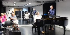 A class at the Summer School for Pianist, Walsall, UK, with pianist James Lisney