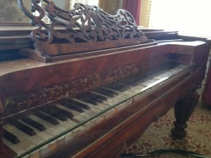 80 years old piano with original ivory inlay