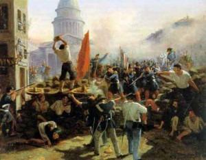 Barricade_rue_Soufflot_1848