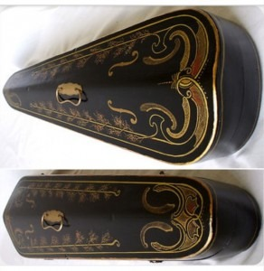 Decorative antique coffin case19th C