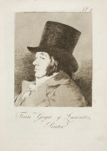 Goya:  Capricho № 1: Francisco Goya y Lucientes, pintor (Francisco Goya y Lucientes, painter)