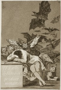Goya: Capricho № 43: El sueño de la razón produce monstruos (The sleep of reason produces monsters)