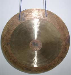 large thin gong