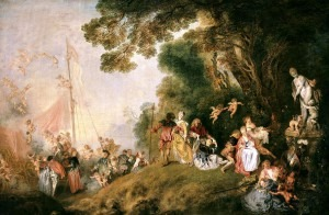 Watteau: L'Embarquement pour Cythère (1719)