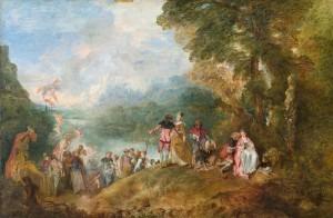 Watteau: L'Embarquement pour Cythère (1717)