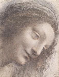 Head of the Virgin in Three–Quarter View Facing Right, 1508–12 Leonardo da Vinci (Italian, 1452–1519)Credit: http://www.metmuseum.org/