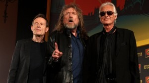 """John Paul Jones, Robert Plant and Jimmy Page of Led Zeppelin. The band's """"Stairway to Heaven"""" is the subject of a current copyright-infringement lawsuit.Danny Martindale/Getty Images"""