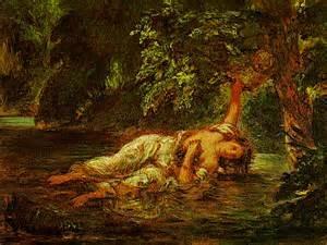 Eugène DELACROIX, La Mort d'Ophélie, 1844, Louvre, Paris