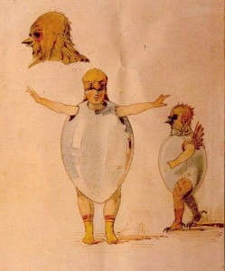 Viktor Hartmann: Sketch of unhatched chicks for the play Trilby.