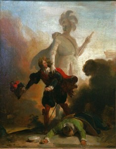 Fragonard: Don Juan and the statue of the Commander
