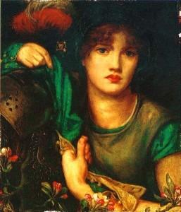 """My Lady Greensleeves"" by Dante Gabriel Rossetti"