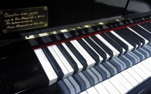 The keyboard of the Sibelius Academy's new quarter-tone piano