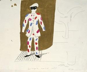 Hockney:  Harlequin Against Gold