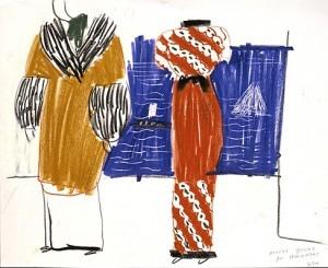 Hockney: Poiret Gowns for Les mamelles de Tirésias