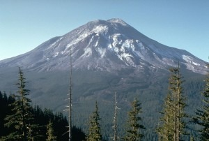Mt. Saint Helens the day before the eruption