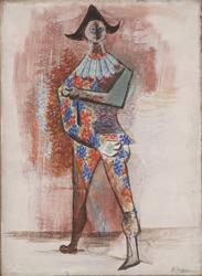 Picasso: Harlequin (1917 (Art Institute of Chicago)